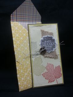 Crystal used Canvas Creations for her stamping on her fall card. She also used Magnificent Maple and Tags 4 You.