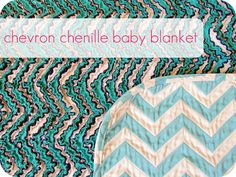 chevron chenille baby blanket