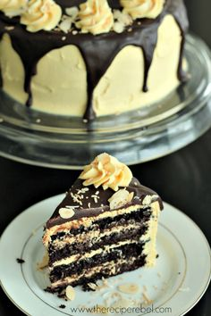 Nanaimo Layer Cake: rich, fudgy and gluten-free! www.thereciperebel.com
