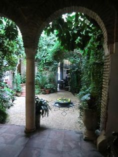 courtyards....