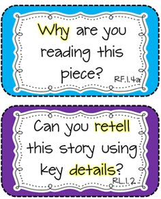 Common Core Reading comprehension questions