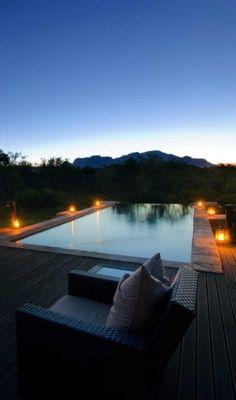 Take a post-safari dip in the inviting pool.