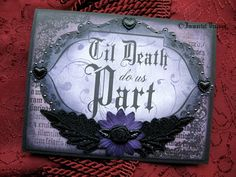Gothic Wedding or Anniversary Greeting Card  by ImmortalVisions, $7.50