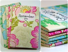 how to make fabric covered notebooks
