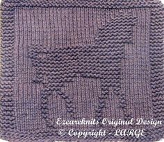 Knit Dishcloth Pattern Horse : Knitting/Crochet Projects on Pinterest Cloth Patterns, Horse Head and Horse...