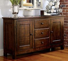 Hillsdale Furniture Hartland Wooden Buffet Table With