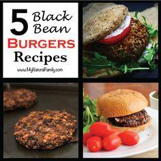 The Best Black Bean Burger Recipes in the World! - MyNaturalFamily.com #blackbean #recipe