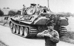 German Panther tank and crew by GLORY. The largest archive of german WWII images, via Flickr