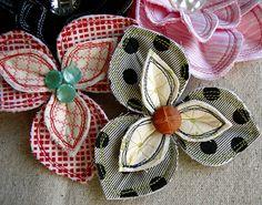 Cute flower brooch