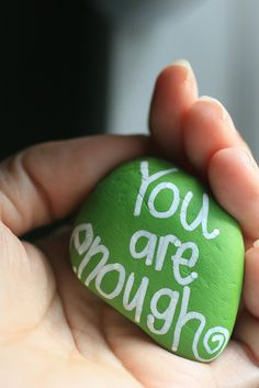 Make the stones as part of AMaze journey. To remind girls that they are good enough; combat cliques  bullies.
