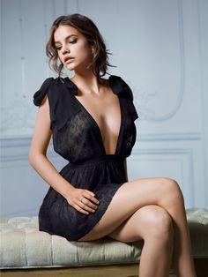Black negligee.