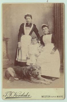 Maids, circa 1900.