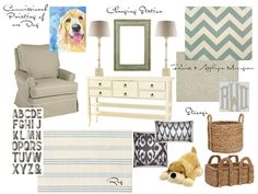 boy nursery - color and textile inspiration