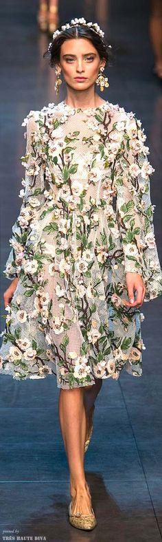 Floral. -- Dolce & Gabbana Spring 2014 RTW
