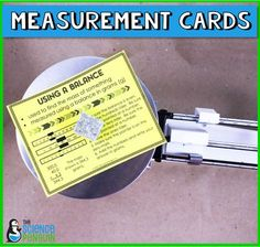 Science Measurement How-To Cards