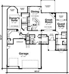 Retirement house plans on pinterest english country for One story retirement house plans
