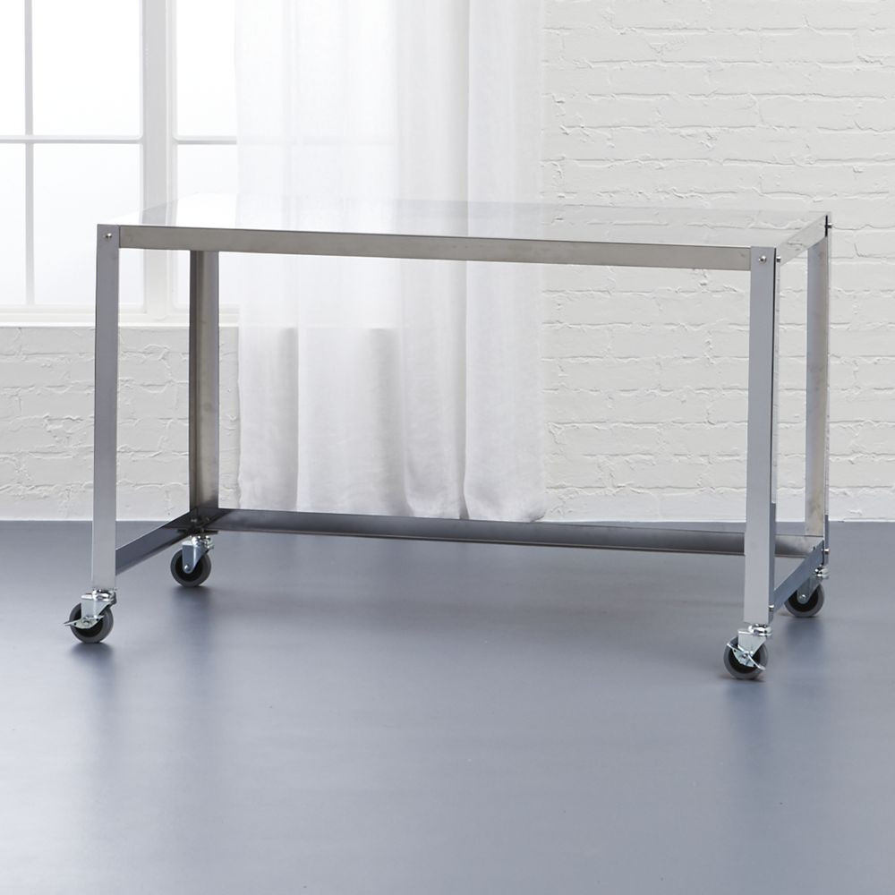 Go Cart Stainless Rolling Desk | Rolling Desk, Office Furniture And Chrome  Plating