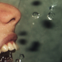 water in the mouth