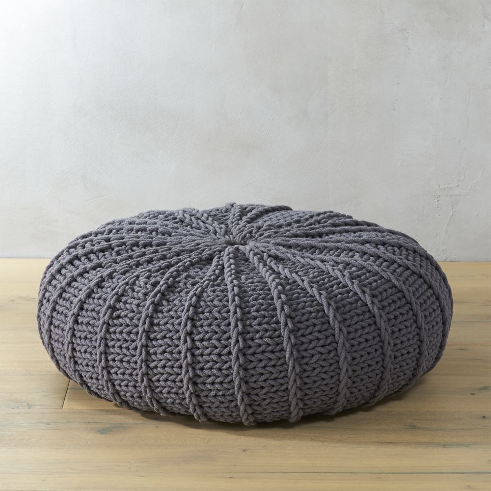 poufs ottomans co on pinterest poufs knitted pouf. Black Bedroom Furniture Sets. Home Design Ideas
