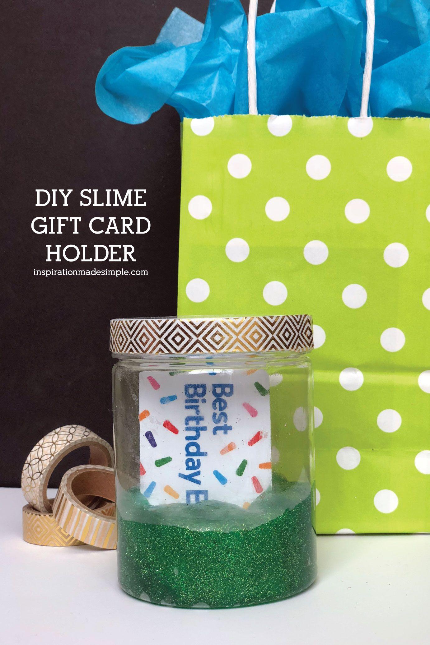 DIY Slime Gift Card Holder Gift Idea