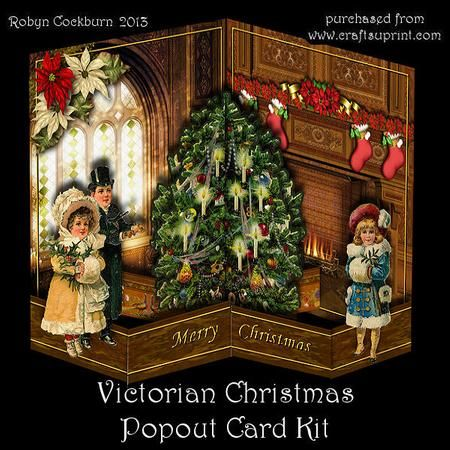 Victorian Christmas Popout Card Kit Victorian Christmas Card Kit Christmas Cards