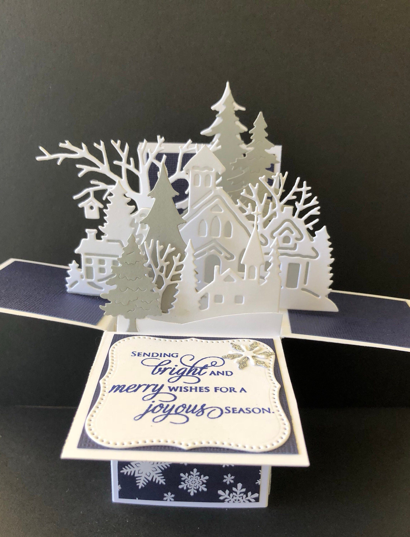 Box of 8 Winter Wonderland Christmas Cards In 2 Designs Xmas Card Packs