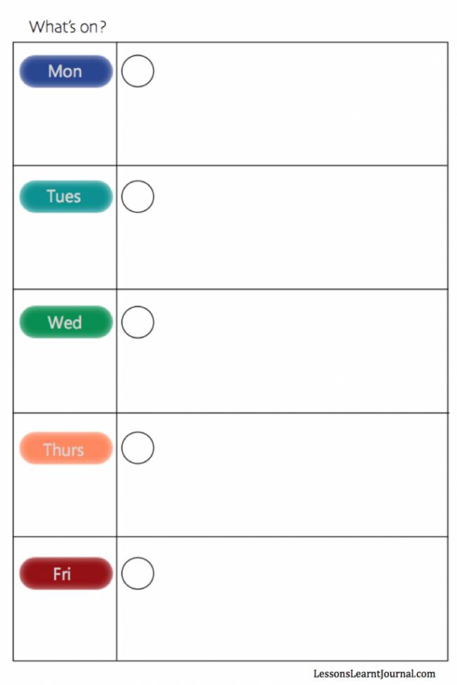 Weekly Calendar For Work Rest Play Free Printable Pinterest