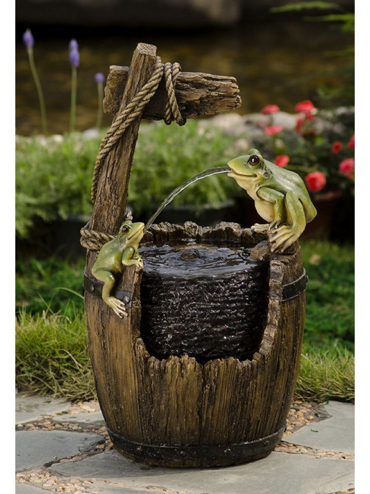 Pot And Frog Water Fountain