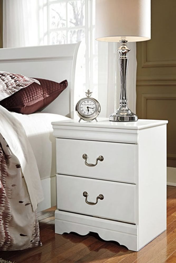 Best 012136 Anarasia Two Drawer Night Stand White Bedroom Night Stands Bedroom Sets For Sale 400 x 300