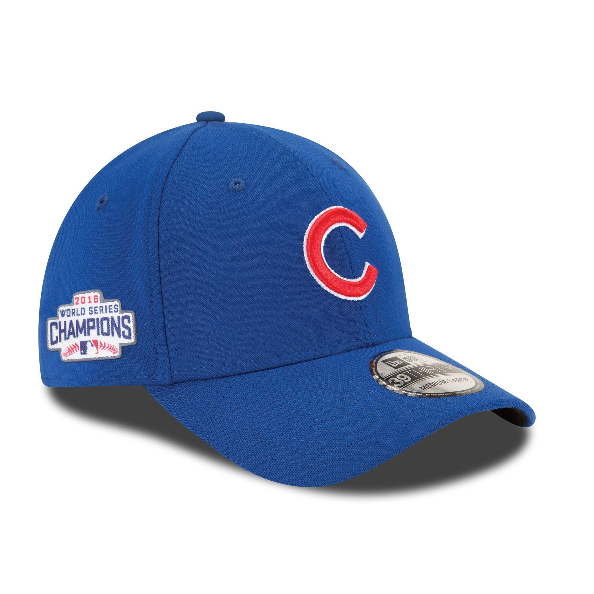 9a82fb1364df8 New Era Chicago Cubs Royal 2016 World Series Champions Side Patch 39THIRTY  Flex Hat