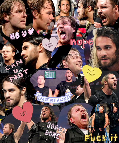 Collage Poster Dean Ambrose WWE