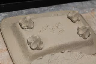 Art Room 104: Clay project with slump/hump molds and sprig molds.