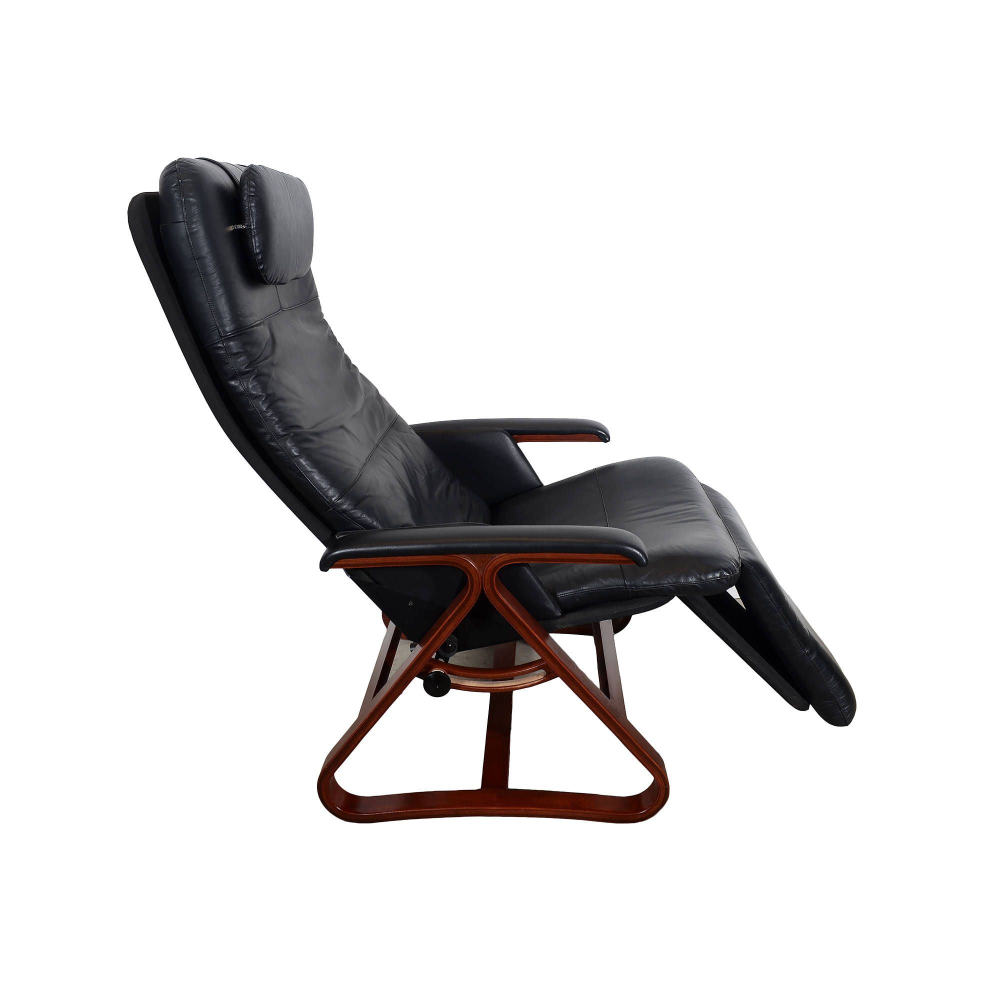 Leather Lounge Chair Backsaver Zero Gravity Chair Danish Modern Recliner  Black Leather Chair By HearthsideHome On