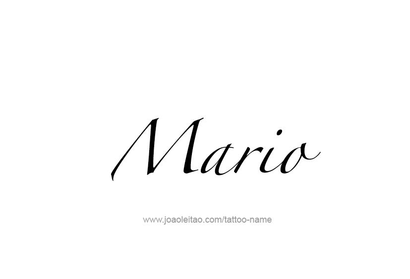 Mario Name Tattoo Designs Name Tattoos Name Tattoo Mario Tattoo