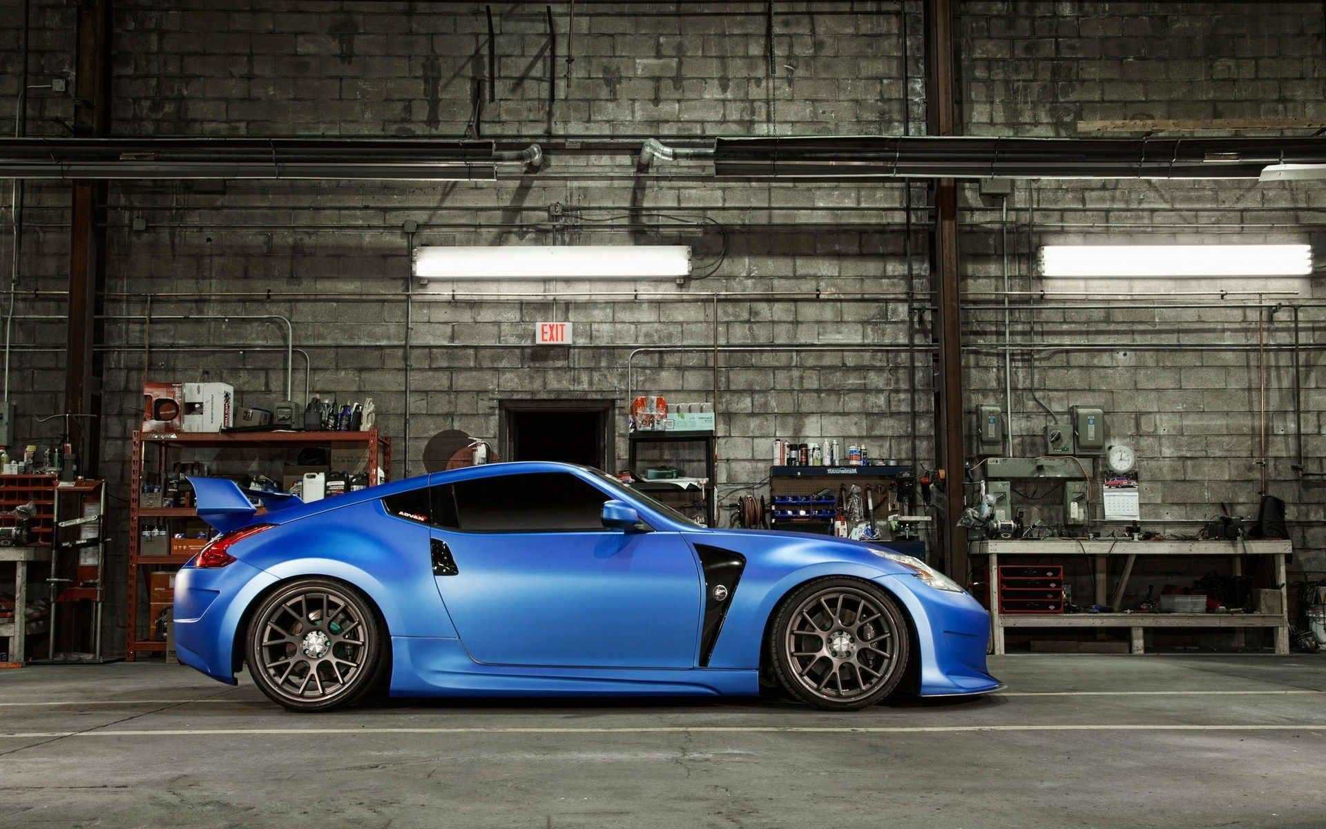 Superbe 2018 Nissan 370Z Coupe Sports Car, Blue Car, Side View Wallpaper |  Cars