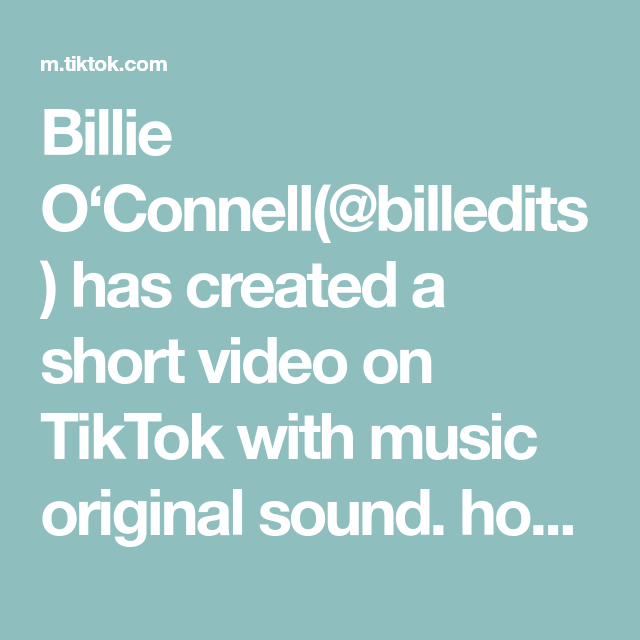 Billie O'Connell(@billedits) has created a short video on TikTok with music original sound. honestly i can listen to her all day🥵#billieeilish #billieeilishvideo #fyp #fup #billieeilishconcert #billieeilishlive