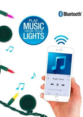 Bluetooth Speaker String Lights Innovative Technology Indooroutdoor 5 Color Multicolored