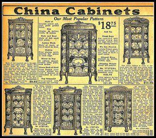 Photos Sears Catalog 1889 1916 China Cabinets