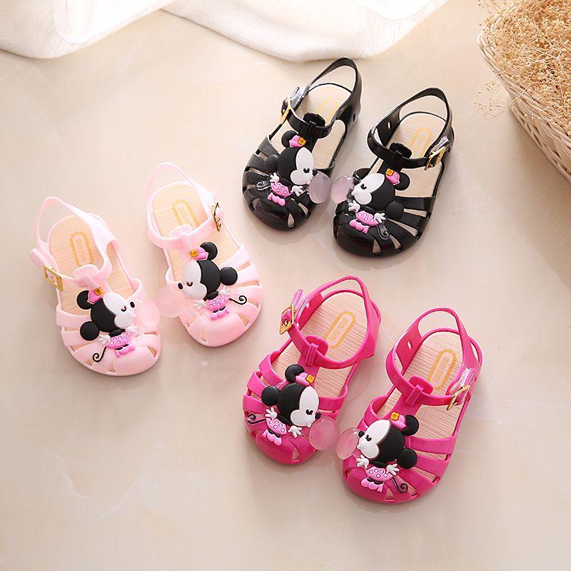 615c5dbc67 comprar Niños sandalias 2018 nuevo Mini Melissa Mickey niñas cristal  sandalias jalea zapatos de los niños de Mickey Minnie zapatillas princesa  zapatos