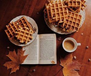 book, waffles, and autumn image #helloautumn