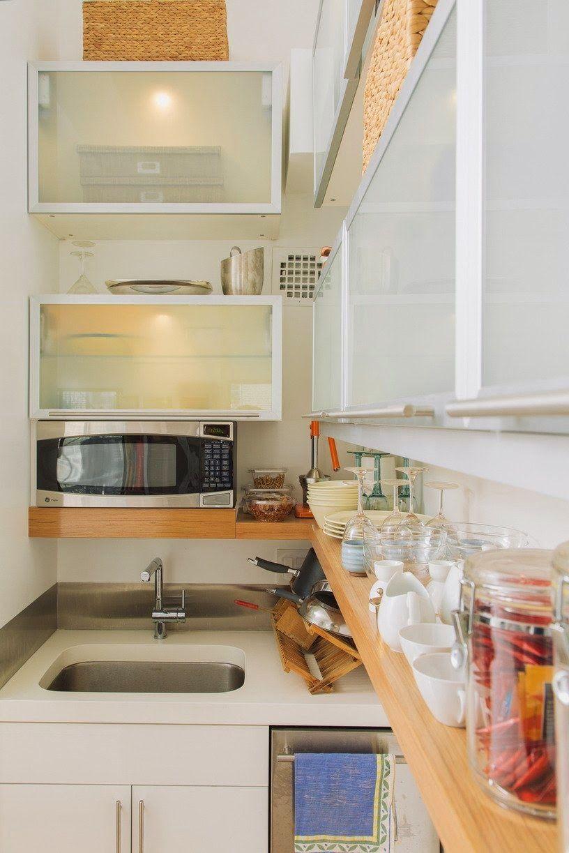 Antes E Depois Reforma Transformou Tudo No Mini Loft Peque Os ~ Cocinas Pequeñas Para Apartamentos