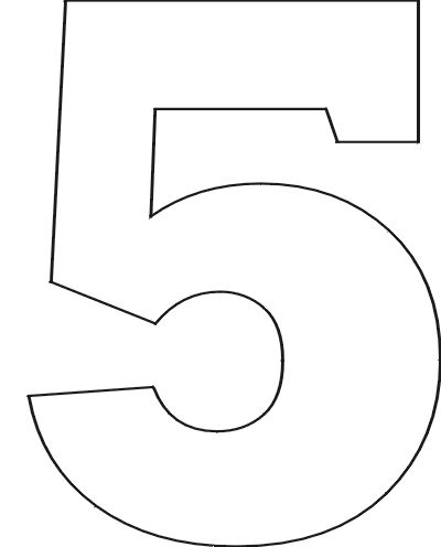 Number Stencils Set 1 – Numbers Templates Free