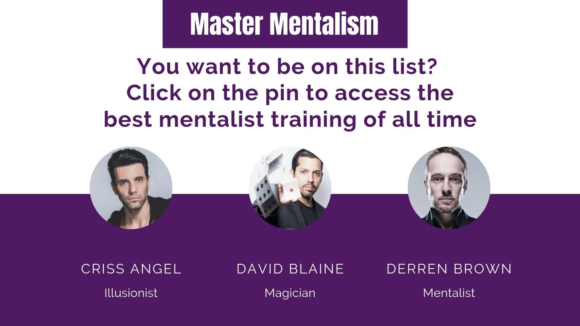 Master Mentalism Magic Tricks Revealed Mentalist Tricks Card Tricks