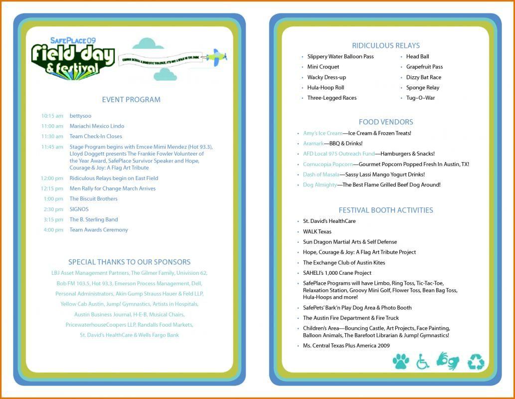 Event Program Template Event Program Printable Wedding Program