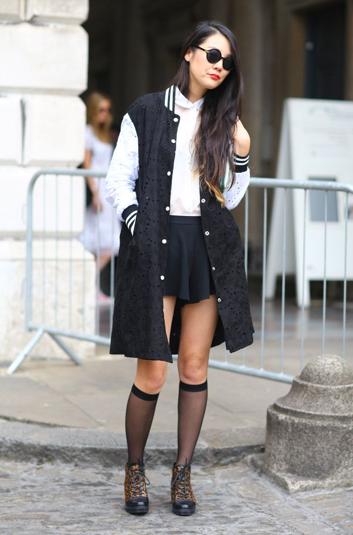 Go Feminine In Lace - Street Style Trend: How To Wear Varsity ...