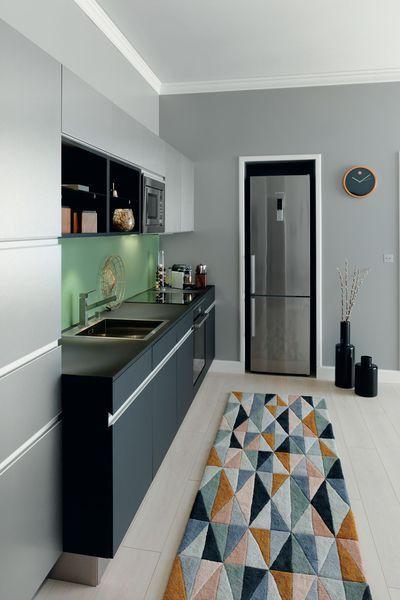 Cuisine Arpège, plan de travail, meubles bas et niches en stratifié