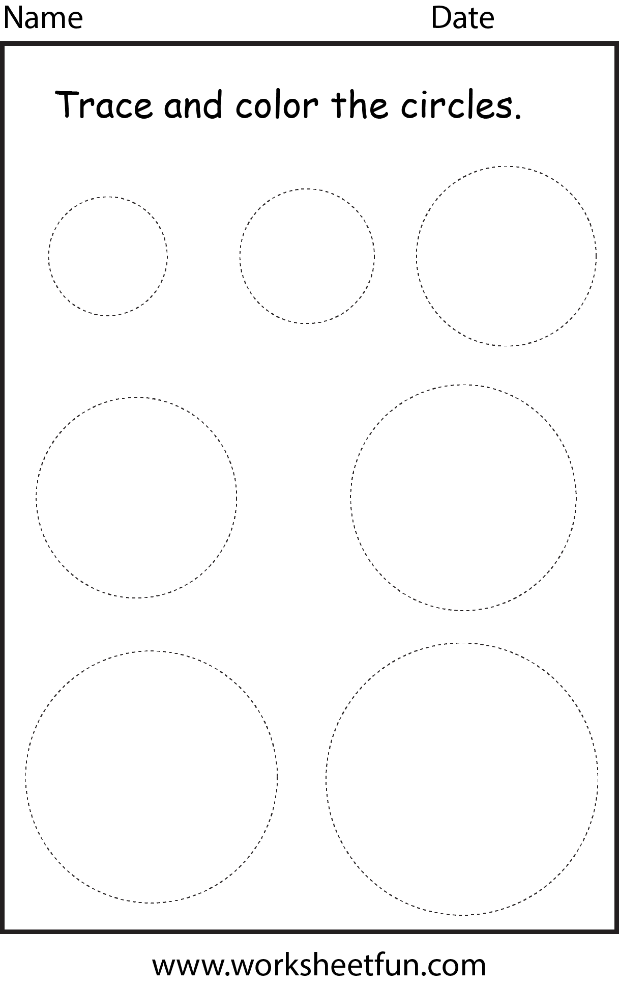 Shape Circle 1 Worksheet