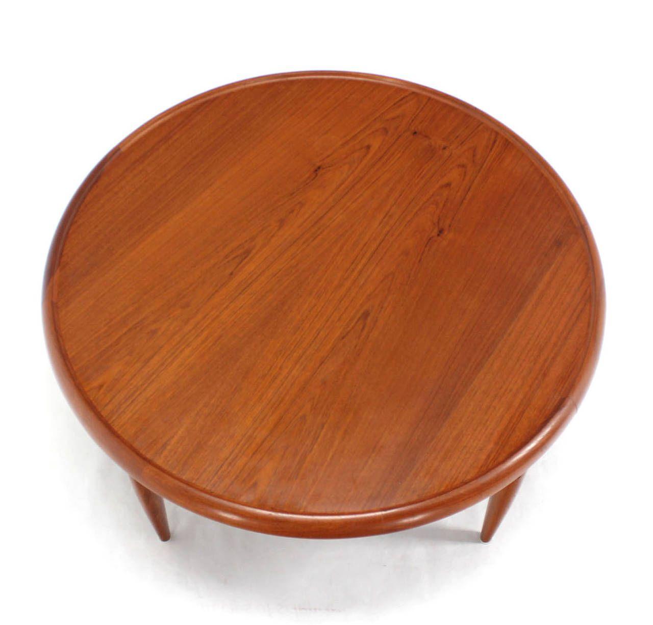 Reversible Flip Top Danish Modern Round Teak Coffee Table Coffee Table Teak Coffee Table Round Coffee Table Modern [ 1226 x 1280 Pixel ]