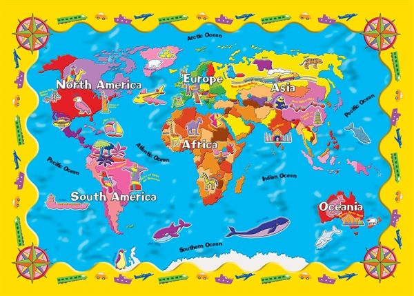map world kids - Google Search MAPS Pinterest - copy world map poster the range