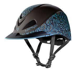 Turquoise Floral, Fallon Taylor by Troxel Helmet Collection